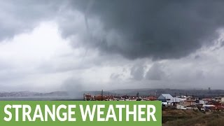 Mother Nature's dark side exposed in this compilation of strange weather!