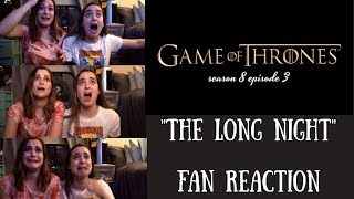 """Game of Thrones fan reaction to the most INSANE moments of Season 8 Episode 3 """"The Long Night"""""""