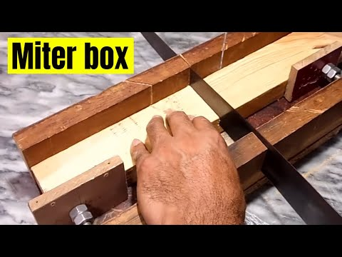 homemade wood miter box , wood angle cutter box , 45 degree wood cutting using miter box