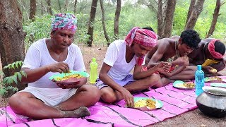 Fishing in Bay of Bengal Cooking and Eating / Cooking in  Jungle / River Fishing in jungle