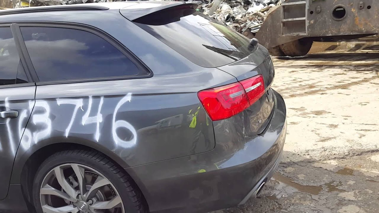 New car scrap metal - YouTube
