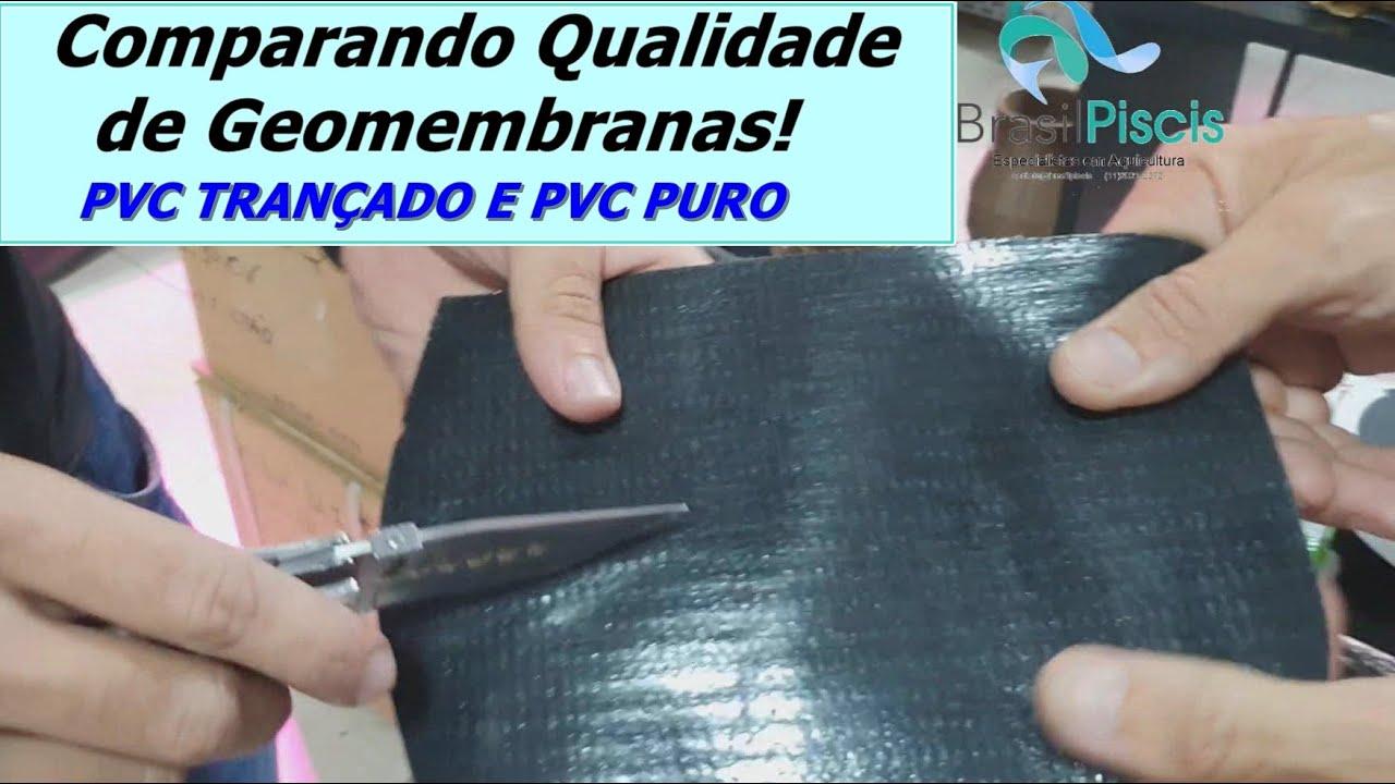 Qual é a Melhor Geomembrana? Teste de Qualidade Geomembranas PVC Vídeo 2
