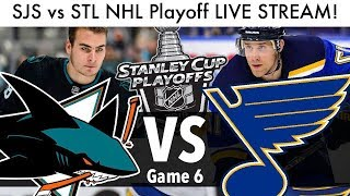 Blues vs Sharks NHL Playoff Game 6 LIVE STREAM! (Round 3 Stanley Cup Series SJS/STL Reaction)