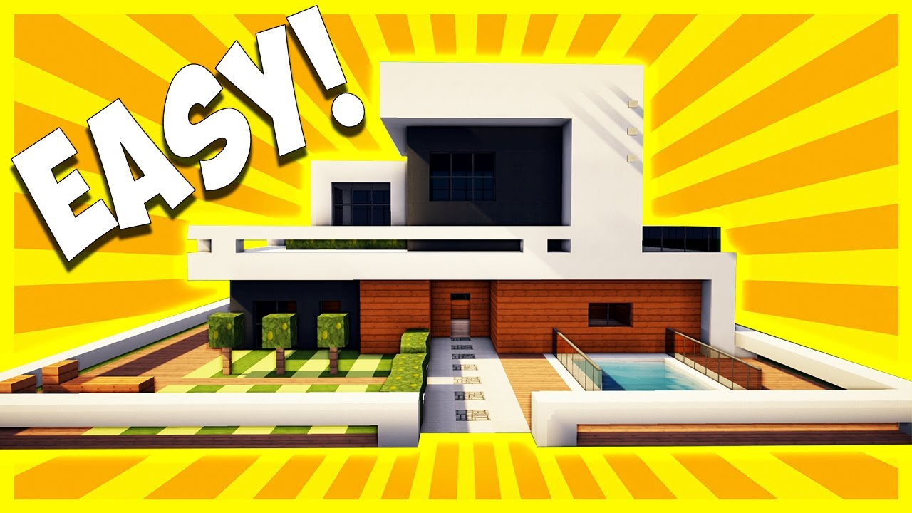 how to build a modern house in minecraft 18