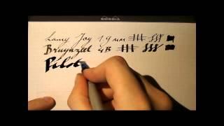 Fountain Pen Shootout #19: Calligraphy Pens