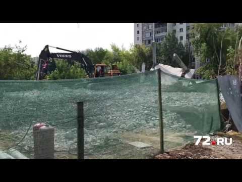 Снос долгостроя на улице М. Горького