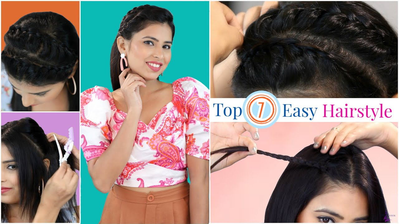 Challenge QUEEN - 7 Cute & Easy Hairstyles | Episode 1 | DIYQueen