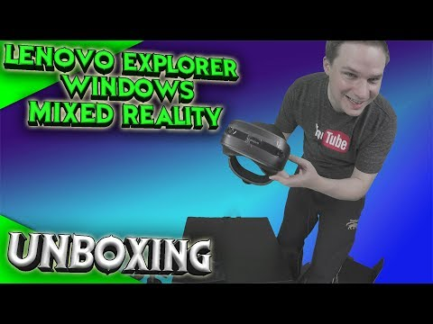 Unboxing Lenovo Explorer Windows Mixed Reality Headset [Germ