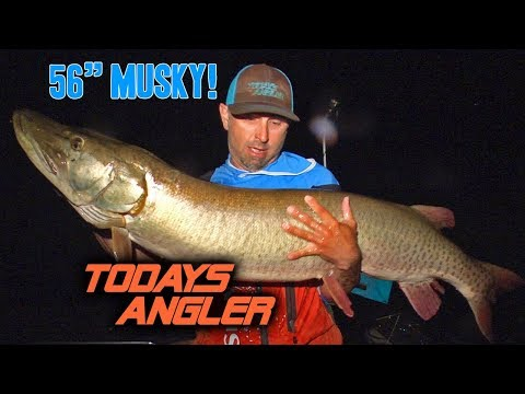 Thumbnail: GIANT 56 INCH MUSKY ft Jon B and Chris Bulaw (Jon B Catches First Musky)