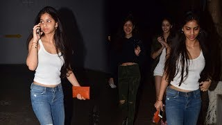 Shah rukh khan's daughter suhana khan snapped on movie date with friends