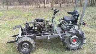 Traktorek SAM VW 1,6d, tractor homemade VW 1,6d