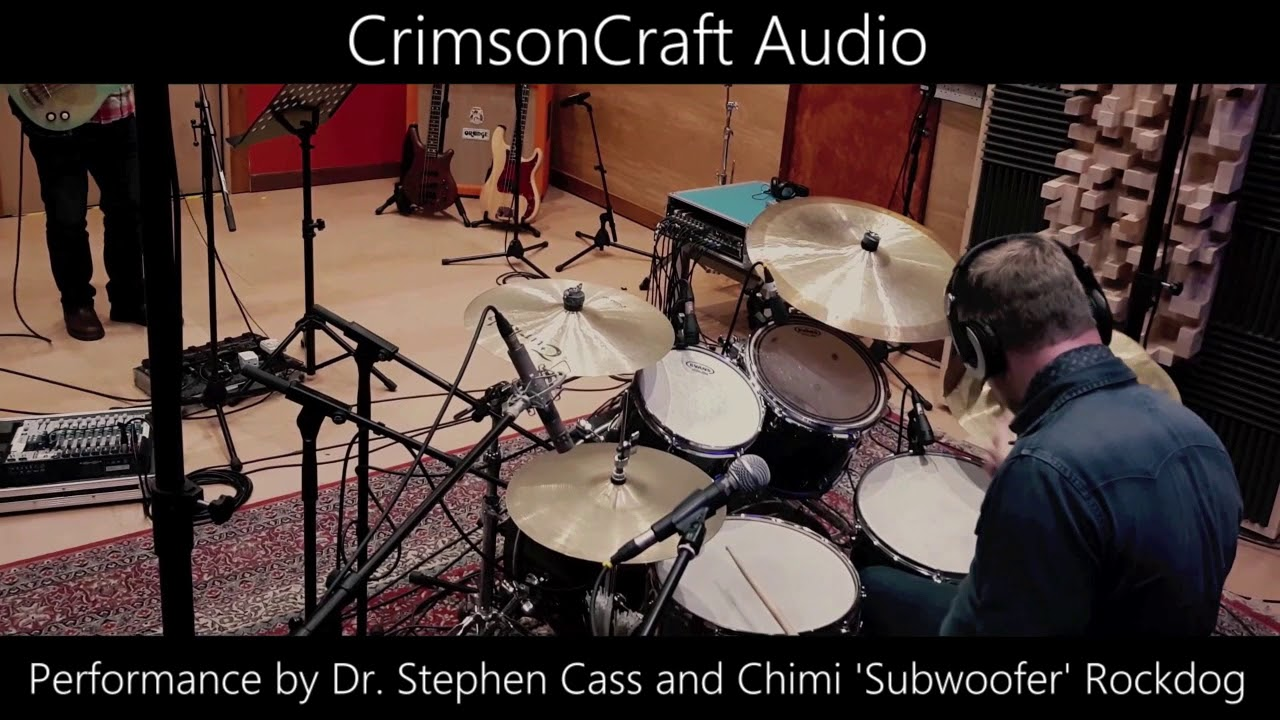 "Raw drum recording - Dr Stephen Cass and Chimi ""Subwoofer"" Rockdog."