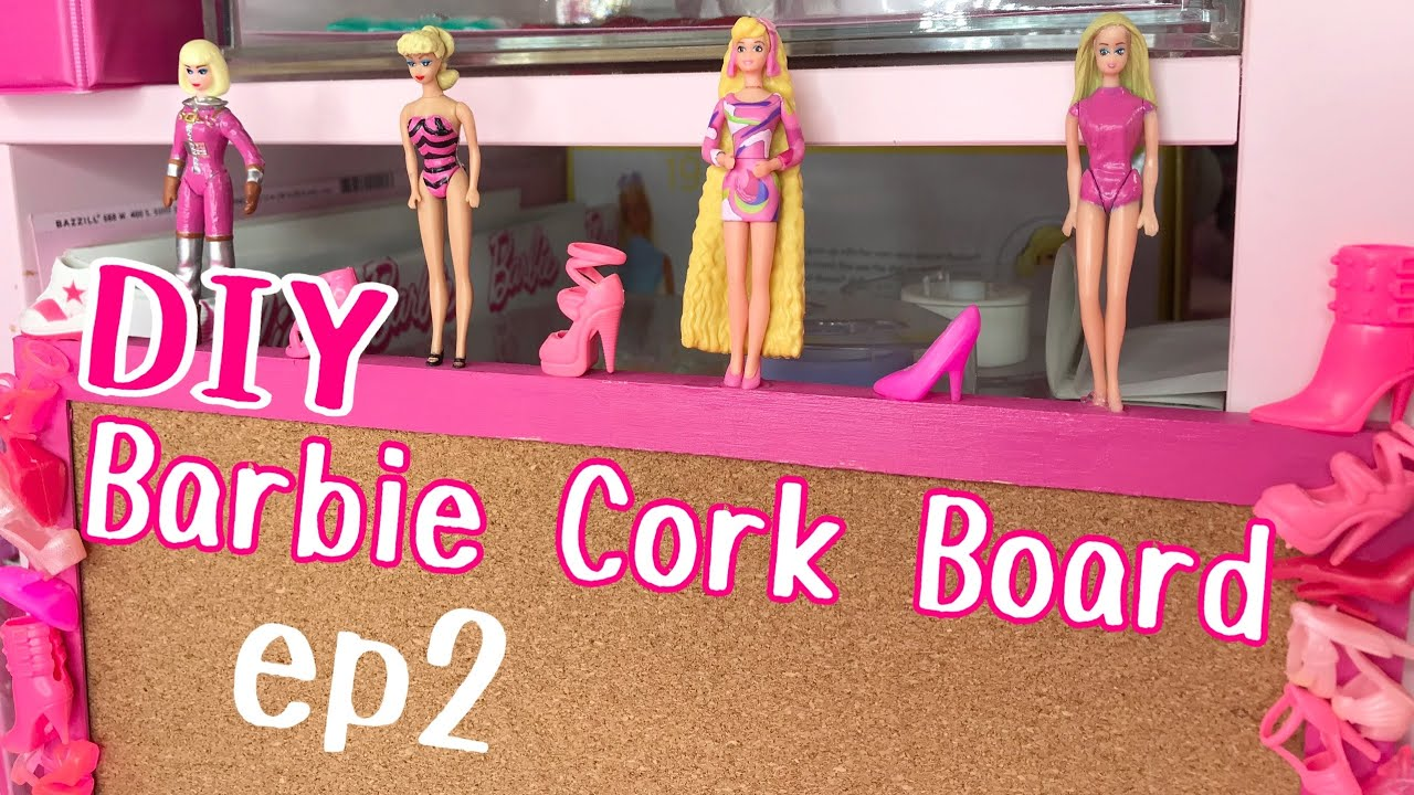 BARBIE DIY!  DOLL SHOES CORK BOARD ep2!!