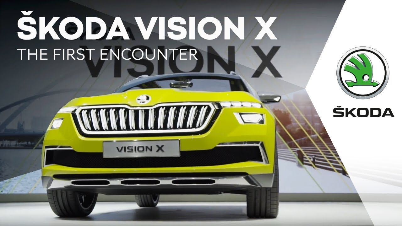 skoda officially reveals vision x hybrid crossover concept at the geneva motor show. Black Bedroom Furniture Sets. Home Design Ideas