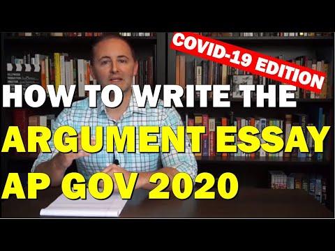 AP Gov--How to Write the 2020 Coronavirus Argument Essay
