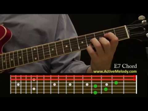 How To Play An E7 Chord On The Guitar Youtube