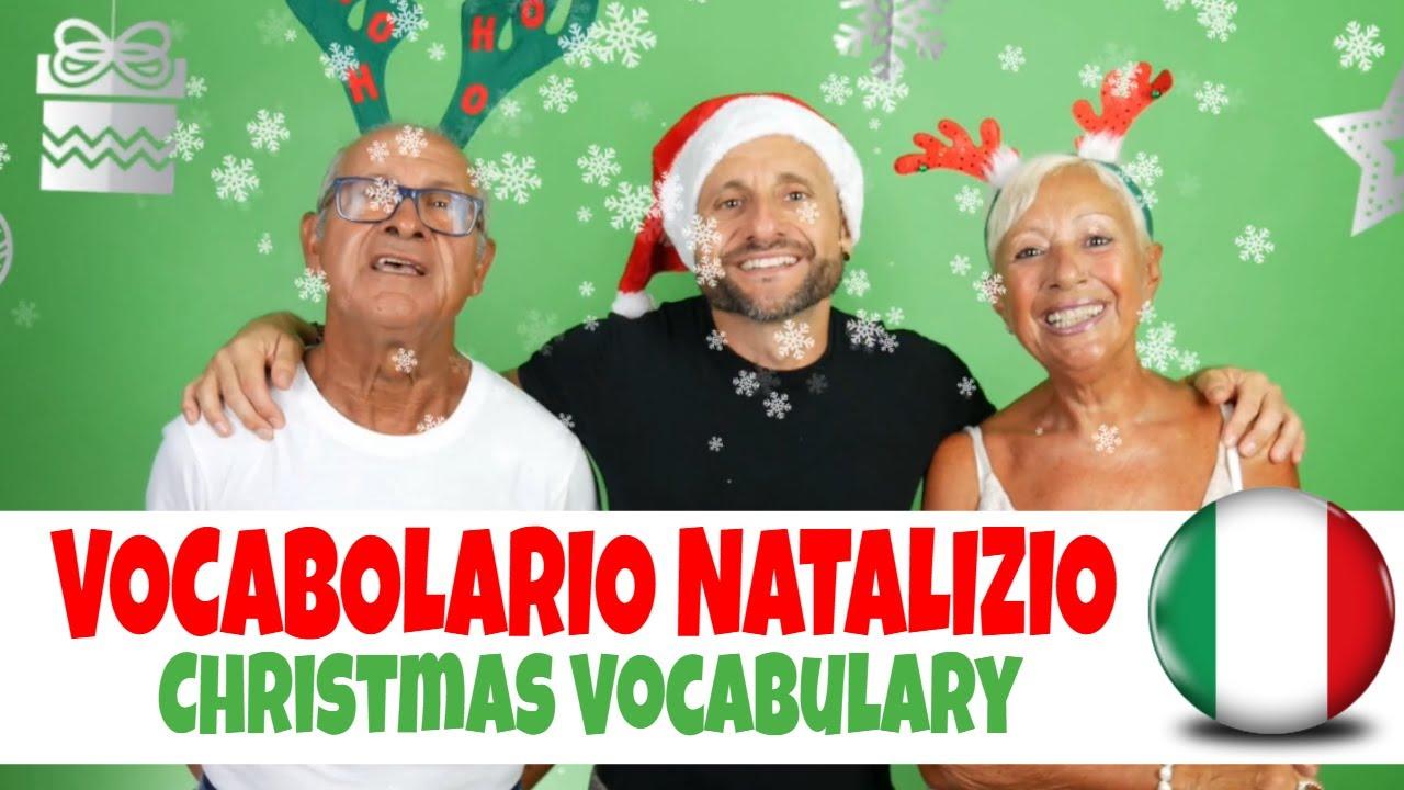 Regali Di Natale Youtube Venditti.Christmas Vocabulary In Italian Video In Italian English With