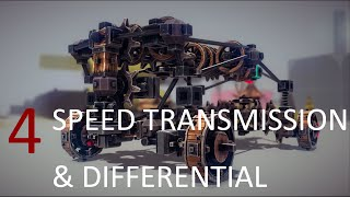 Compact 4 speed transmission  & differential car | BESIEGE