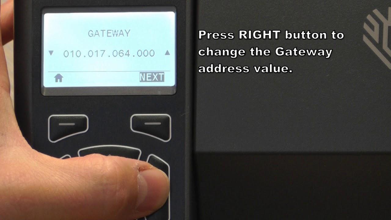 How To Change Ip Address On Zebra Printer S4m Setting a