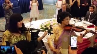 Performing with Tun Siti Hasmah😄
