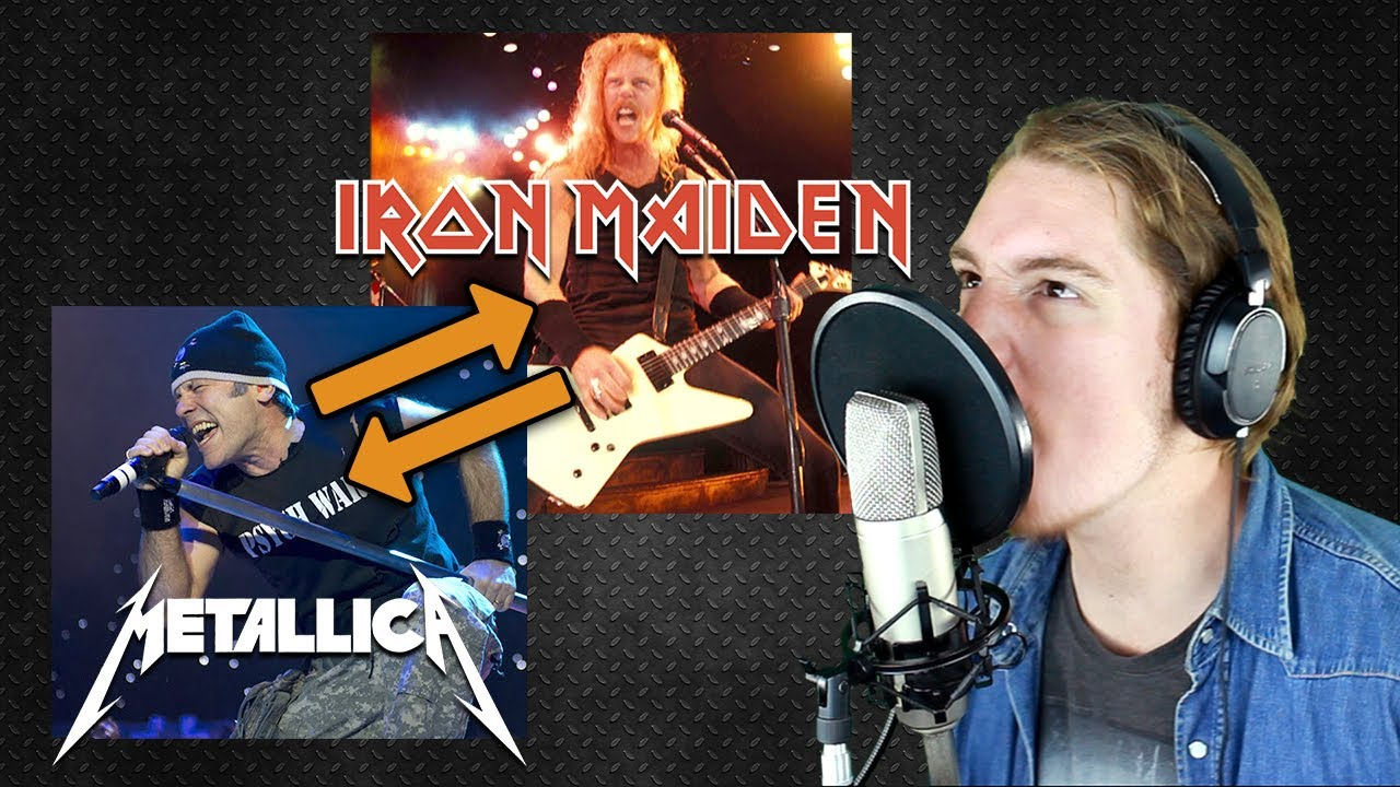 iron maiden metallica voice swap impression part 1 youtube. Black Bedroom Furniture Sets. Home Design Ideas