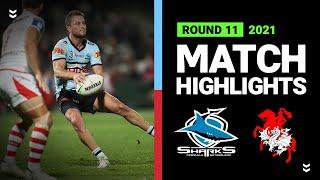 Sharks v Dragons Match Highlights   Round 11, 2021   Telstra Premiership   NRL