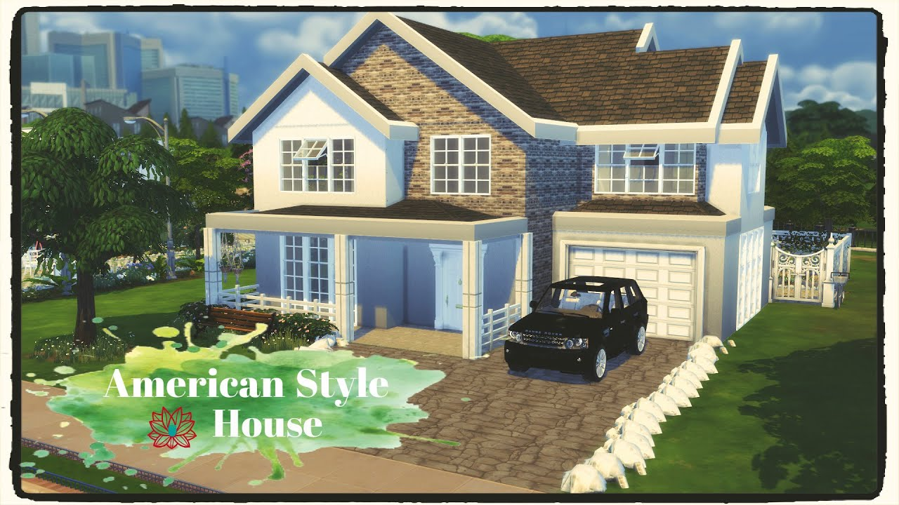 Sims 4 American Style House Build Decoration Part 1