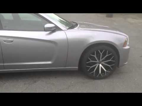 Dodge Charger Lease >> Charlotte Rimtyme 2011 Dodge Charger 22' Versante Wheels and 265/35R22 Lexani Tires - YouTube