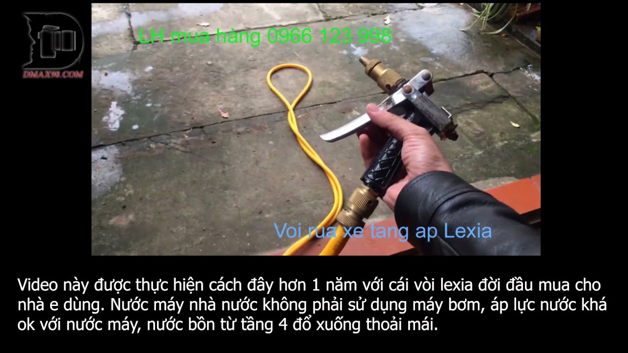 Vòi rửa xe tăng áp kém chất lượng với vòi Lexia chính hãng