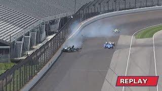 IndyCar Series 2017. FP4 Indy 500. Josef Newgarden Hard Crash