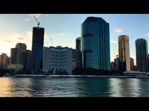 Skyline of Brisbane from Ferrry