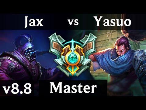 JAX Vs YASUO (TOP) ~ Legendary, 1000+ Games, Perfect KDA 16/0/4 ~ Korea Master ~ Patch 8.8