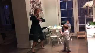 Ivanka Trump dances with sons