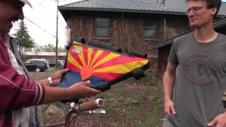 What began as a frame pack born of necessity (broke college student) has transformed in to a full-fledged Flagstaff business. Housed in a garage downtown, Rogue Panda Designs has all your bike-bag needs, and best of all, your money stays local!