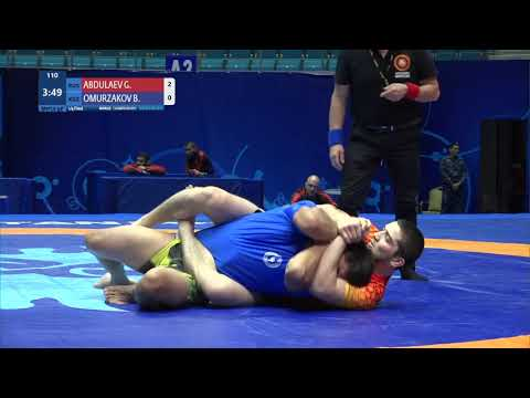 1/4 Men's GP No-Gi - 92 kg: G. ABDULAEV (RUS) v. B. OMURZAKOV (KGZ)