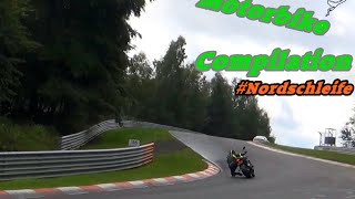 Motorcycle Compilation Nordschleife - Almost Crash, Accident, Fast & Crazy Biker Bikes