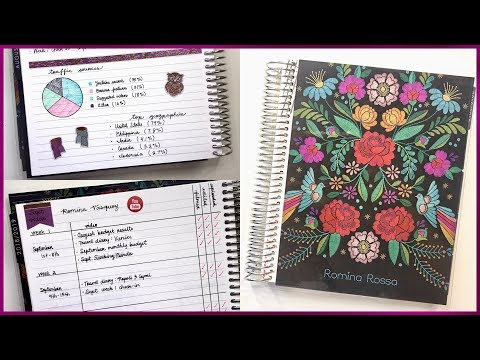 My Social Media Planner Set Up & Walkthrough - EC Deluxe Monthly Planner | Romina Vasquez