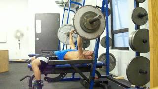 195 x 6 Bench Press @ 124 lbs Bodyweight