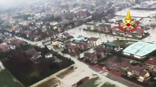 video: Watch: Heavy flooding in Italy triggers evacuations in central region