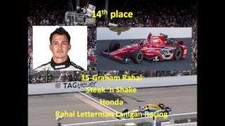 2017 Indianapolis 500 Starting Lineup