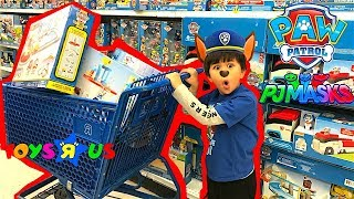 PAW PATROL and PJ MASKS TOY HUNT at Toys