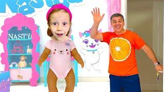 Nastya e Maggie e a história da varinha mágica para crianças