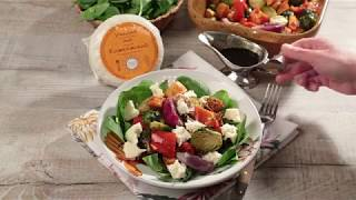 Теплый овощной салат с кавказским сыром