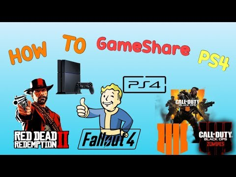 How to Gameshare on PS4 (EASY METHOD) (STEP BY STEP TUTORIAL) 2019