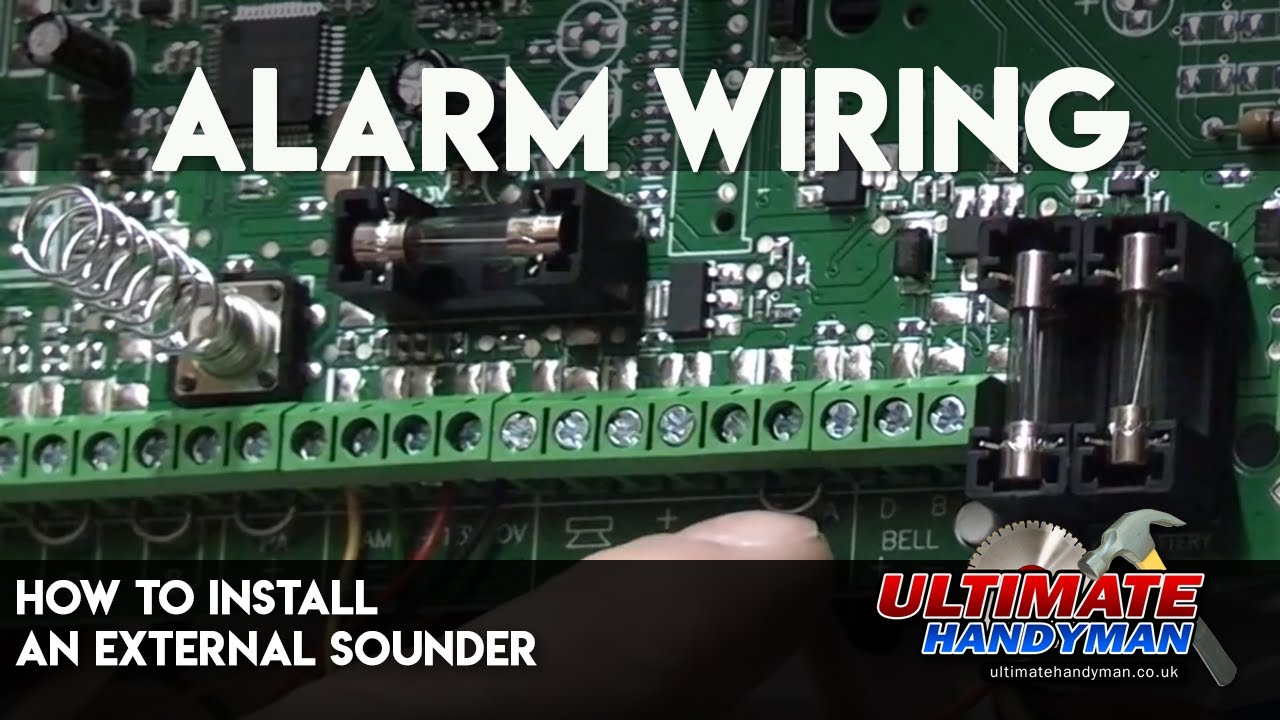 how to install an external sounder alarm wiring