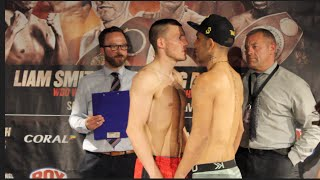 LIAM WILLIAMS v GUSTAVO SANCHEZ - OFFICIAL WEIGH IN & HEAD TO HEAD / THE HOME COMING