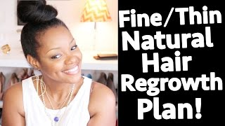 Fine Natural Hair Regrowth Plan: Shedding, Breakage, Edges, Thickness | BorderHammer