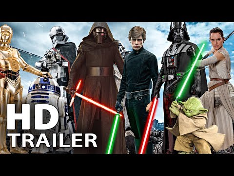 All STAR WARS Movie Trailer (1977 - 2018)