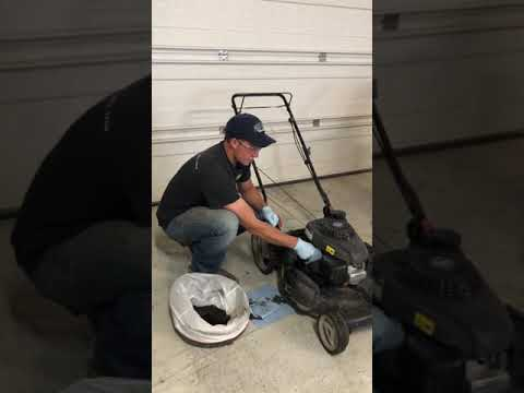 Honda push mower oil change