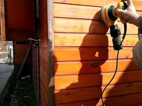 Вагонка снаружи дома.Восстановление покрытия:яхтный лак.